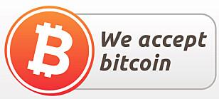 Ser du et slikt merke på et nettsted, betyr det at du kan betale med bitcoins.