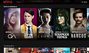 ORIGINALS: Netflix har mange egenproduserte serier i sitt sortement. Foto: Skjermdump