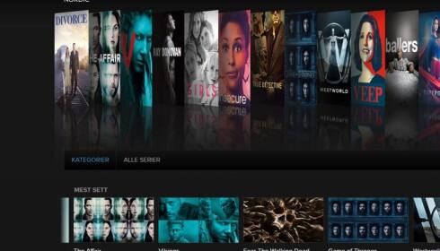 SERIEKONGEN: Søker du opp serietopplisten på imdb.com, finner du mange av HBOs serier. Foto: Skjermdump