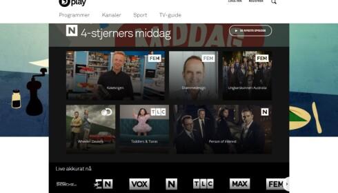 SPORTY: Dplay samler en rekke programmer fra Discoverys kanaler, men har også rettighetene til norsk eliteseriefotball. De kan bli gull verdt når det skal kapres abonnenter. Foto: Skjermdump