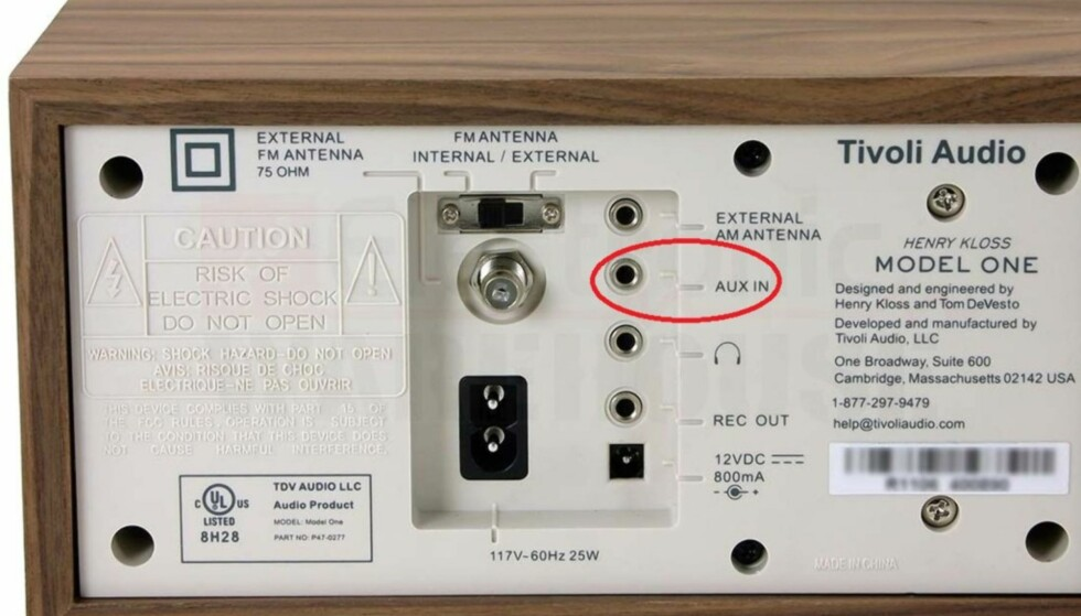VIKTIG HULL: FM-radioer som har linjeinngang som denne kan også brukes i digitalalderen. Foto: Tivoli Audio