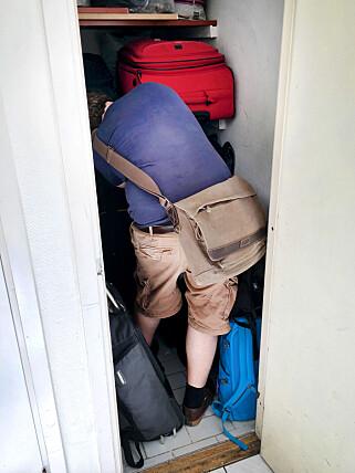 RISIKABELT: At ting stjeles fra slike bagasjerom på hoteller, er visst slettes ikke uvanlig. Og reiseforsikringen kan nekte å erstatte verdigjenstander. Foto: Ole Petter Baugerød Stokke