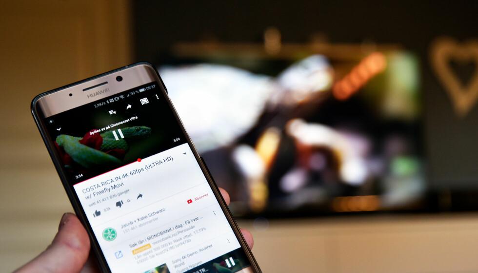 MED 4K: Nye Chromecast Ultra har støtte for 4K og HDR, men har du en TV som støtter det, har du kanskje det du trenger allerede? Foto: Pål Joakim Pollen