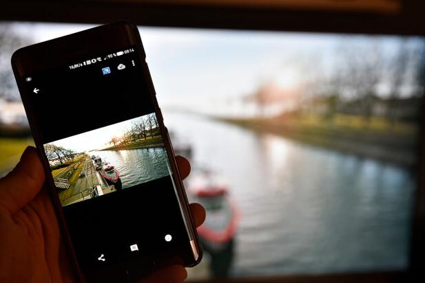 IKKE 4K: Google Photos-appen har foreløpig ingen 4K-støtte. Dermed blir bildene omtrent like på TV-skjermen som de gjør med den første Chromecast-utgaven. Foto: Pål Joakim Pollen