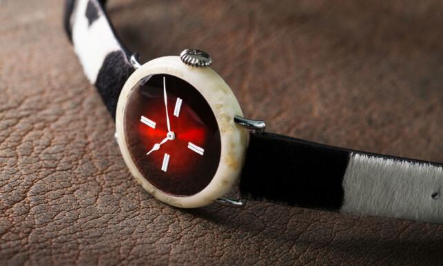 «THE SWISS MAD WATCH»: Ikke en klokke for de laktoseintolerante. Foto: H. Moser & Cie.