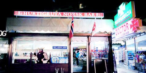 image: I «lysløypa» på Playa del Inglés er 90 prosent av kundene fra Norge