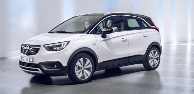 VELPROPORSJONERT: Etter vår mening har Crossland X en mer harmonisk linjeføring enn Mokka X. Foto: Opel