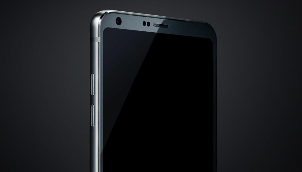 """TYNNE KANTER: <a href=""""http://www.theverge.com/2017/1/23/14363314/lg-g6-photo-leak-android-smartphone-flagship-mwc"""">The Verge</a> har fått tak i dette bildet, som skal være det første av LGs neste toppmodell, LG G6. Foto: The Verge"""