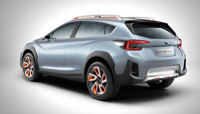 OVERDREVET: lykter og noe staffasje blir nok mer moderat på produksjonsbilen. Foto: Subaru
