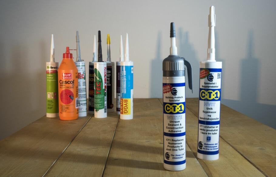MINDRE RESTER: Med CT1 trenger du ikke lenger å kjøpe akryl, silikon og ulike limprodukter for å bruke de en gang og legge de i boden. FOTO: Simen Søvik