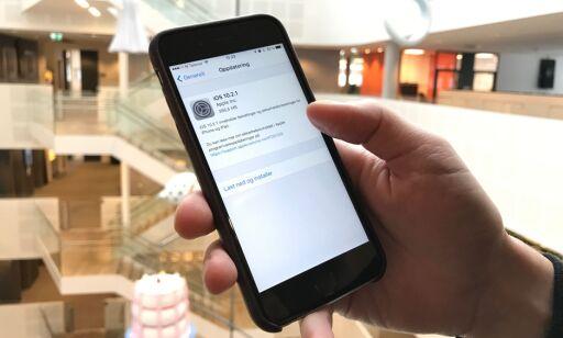 image: Apples siste oppdatering fikser ikke det merkelige batteriproblemet