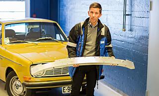 I MEDVIND: Teknologileder Anders Artelius jobber med utvikling av størfangere og hjuloppheng hos Benteler. Foto: Kasper van Wallinga