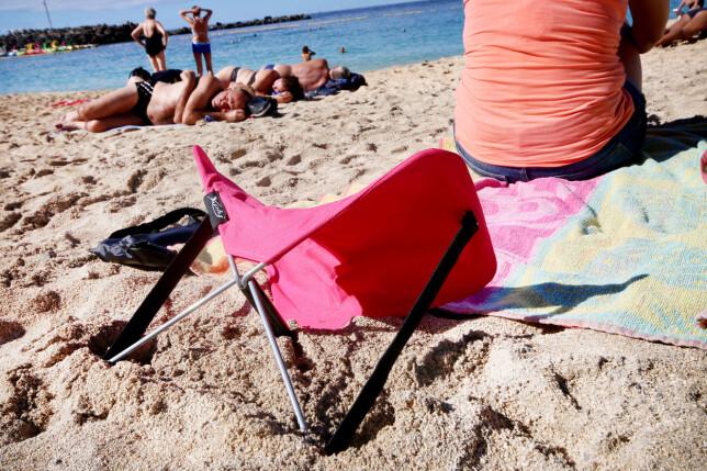 SAMMENLEGGBAR: Y-ply foldes ut, klipses sammen og settes i sanda - ferdig til bruk. Foto: Ole Petter Baugerød Stokke