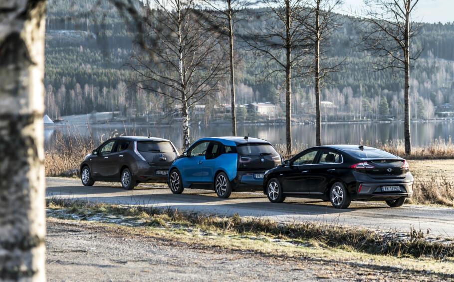 FÅR EGEN ELBILFORSIKRING: I samarbeid med Norsk elbilforening tilbyr Storebrand fra august egen forsikring til Nissan Leaf, BMW i3, Hyundai Ioniq (elektrisk) og andre elbiler. Foto: Jamieson Pothecary