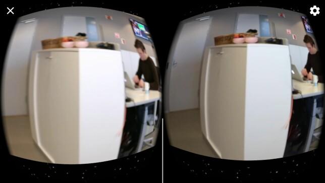 SYS SAMMEN: Videoen fra to forskjellige mobiltelefonen kombineres til én med Camarada-appen. Foto: Pål Joakim Pollen
