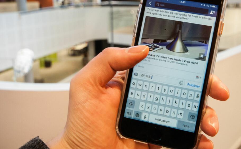 SNEDIG KODE: Med denne koden kan du finne ut hva telefonen din heter, hevder OneCall i et Facebook-innlegg. Men svaret er nok litt kjedeligere enn som så. Foto: Gaute Beckett Holmslet