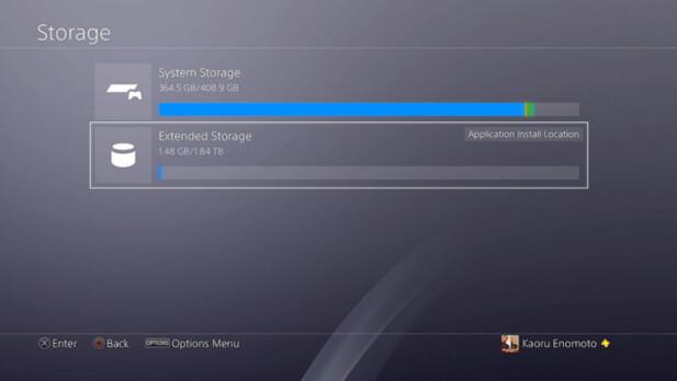 <strong>KOMMER:</strong> Snart blir det mulig for PS4-eiere å flytte spill til en ekstern harddisk. Foto: Sony