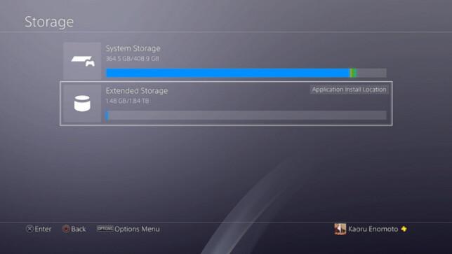 KOMMER: Snart blir det mulig for PS4-eiere å flytte spill til en ekstern harddisk. Foto: Sony
