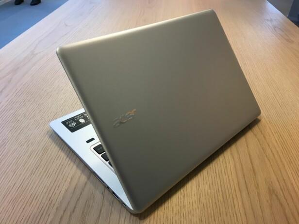 PENT OG SOLID: Acer Swift 3 er omtrent helt rensket for plastløsninger, noe som bidrar til god kvalitetsfølelse. Foto: Bjørn Eirik Loftås