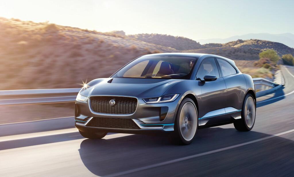 STOR ETTERSPØRSEL: Jaguar kommer med fullelektrisk SUV, og opplever stor etterspørsel. Foto: Jaguar