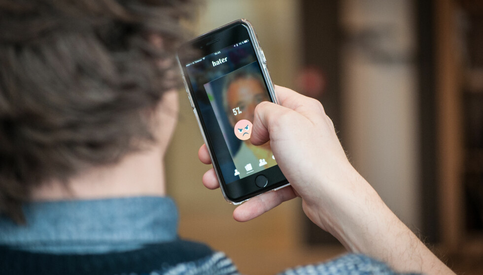 ELSK OG HAT: Basert på hva du hater skal appen finne noen du kan elske. Foto: Gaute Beckett Holmslet