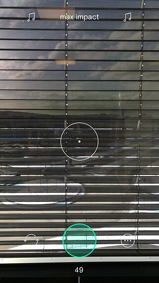 BULLSEYE: Midt på skjermen har du et sikte. Det er godt å ha når du skal zoome raskt inn på motivet. Foto: Skjermdump