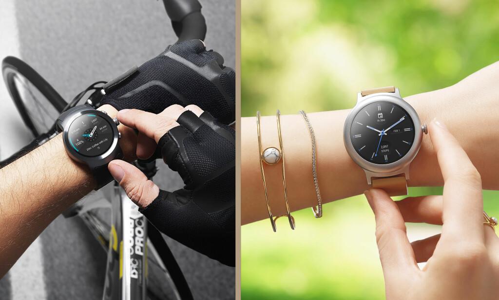 MINE DAMER OG HERRER: Sånn jeg ser det, er det liten tvil om hvilke kjønn disse klokkene er myntet på. Så hvorfor er dameklokka så mye kjipere enn herreklokka? Foto: LG