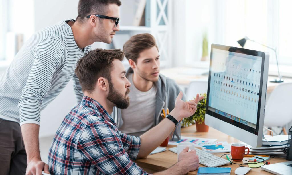 VIKTIGERE ENN HØYERE LØNN: I det lange løp, er det ikke lønnsøkning som vil holde motivasjonen på topp, men gode relasjoner på jobb. Illustrasjonsfoto: Scanpix.