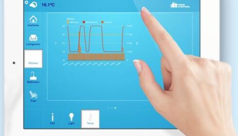 <strong>FULL STYRING:</strong> Du kan selv kontrollere og styre strømforbruket med en app. Foto: HomeControl