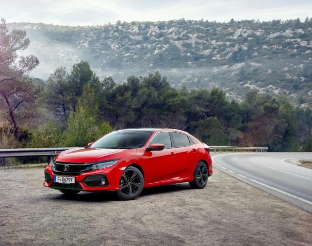 MER SPORTSLIG: Både utseendemessig og under kjøring vitner nye Civic om at kjøreglede er blitt prioritert høyere enn før. Foto: Honda