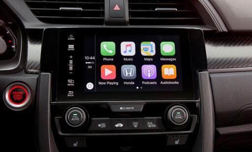 MULTIMEDIA: Honda har det meste av det som er aktuelt på kommunikasjons- telefoni og underholdningsfronten. Foto: Honda