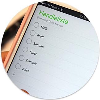 image: Gjør det mye enklere å få med seg alt på handlelista