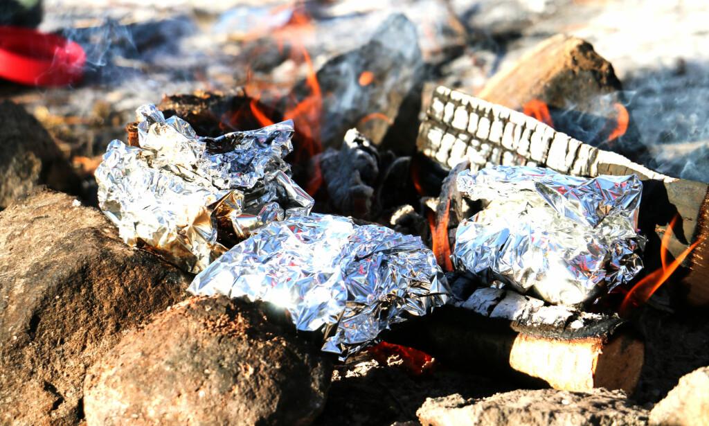STEINER: Har du mulighet til å støtte opp muffinspakkene på steiner, vil det være en fordel. Foto: Hanna Sikkeland.