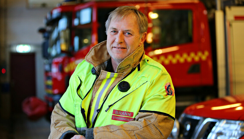 KLAR ÅRSAK: Brannmester Harald Nordnes har selv vært på jobb der brannen startet i en Pinell Go-radio. (Foto: Vestfold Interkommunale Brannvesen)