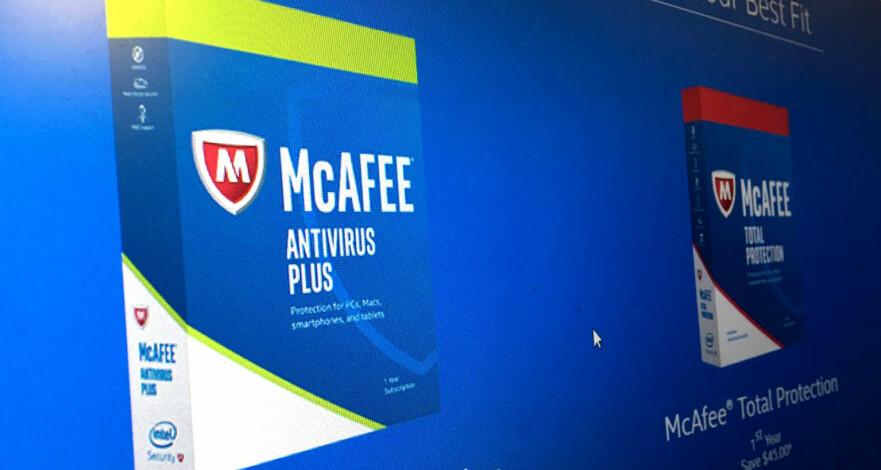 HJELPER MED KRITIKK: McAfee-programmene har vært gjenstand for mye kritikk fra oss. Det førte til at en av toppsjefene tok kontakt med oss. Foto: Bjørn Eirik Loftås