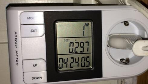 <strong>BRUK NÅR DET ER BILLIGST:</strong> Den nye strømmåleren kan hjelpe deg å tilpasse strømforbruket til varierende priser i løpet av døgnet. Foto: Tore Neset