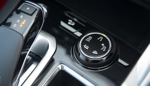 Hjulet for GripControl: Forskjellige kjøremodus velges etter behov. Foto: Produsenten