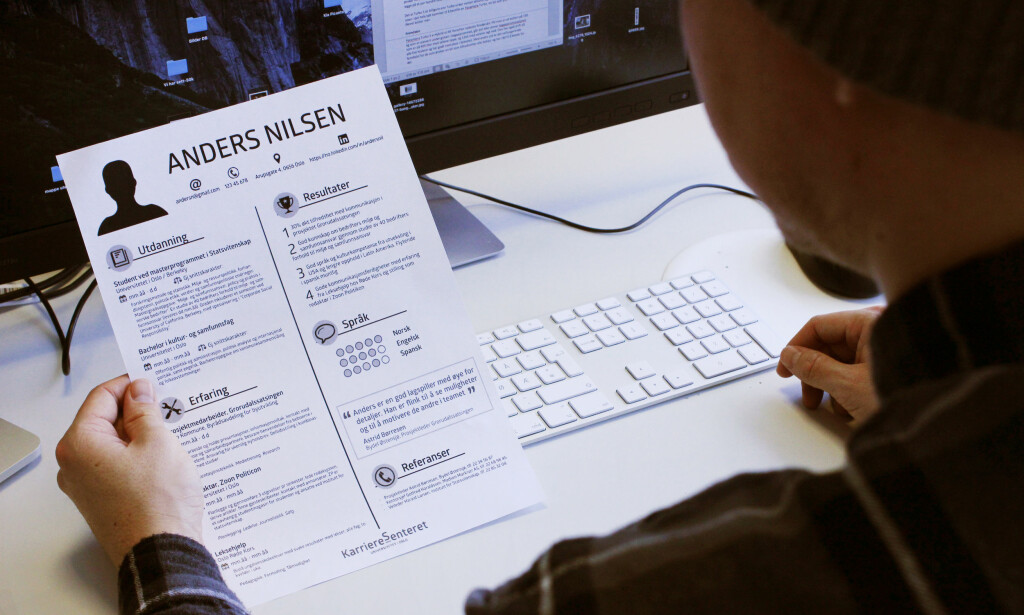 CV PÅ ÉN SIDE: Har du opparbeidet en del erfaring, og vil gi arbeidsgiver et blikkfang, kan dette være et smart oppsett for CV-en. Foto: Berit B. Njarga