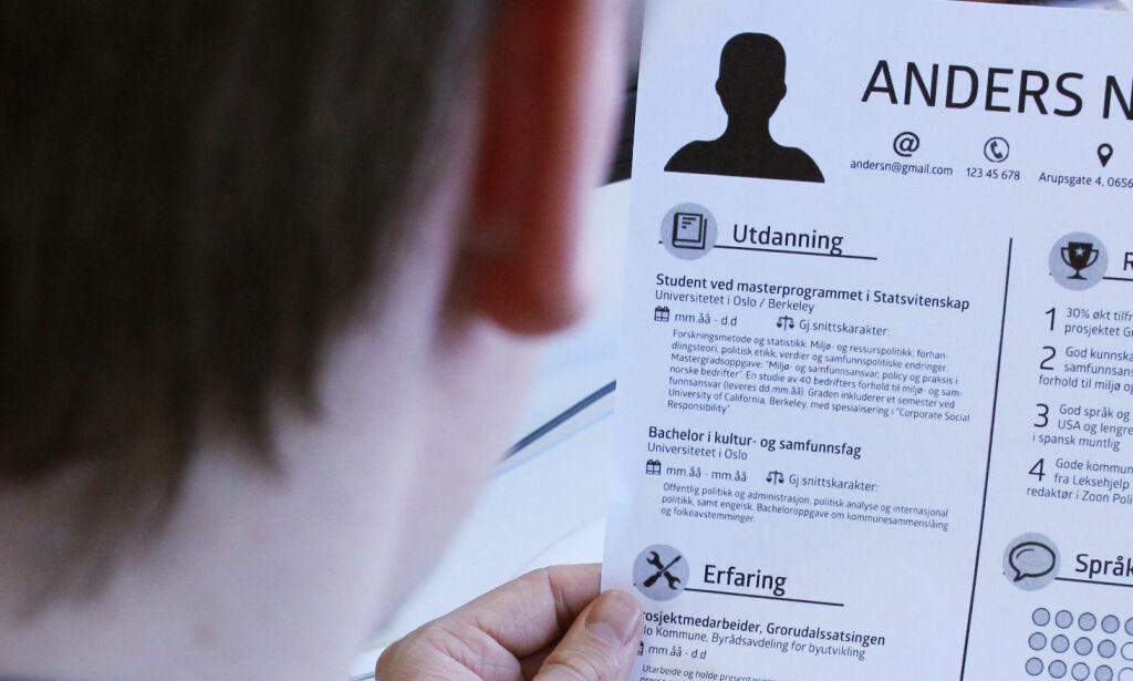 image: Vil du bli lagt merke til, bør du sette opp CV-en slik