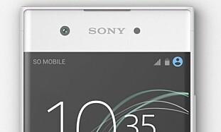 TYNNE KANTER: Xperia XA1 er en rimeligere modell som har svært tynne skjermkanter. Foto: Sony