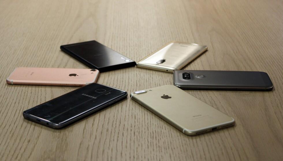 MYE Å VELGE I: Men hvilket mobilmerke liker kundene best? Foto: Pål Joakim Pollen