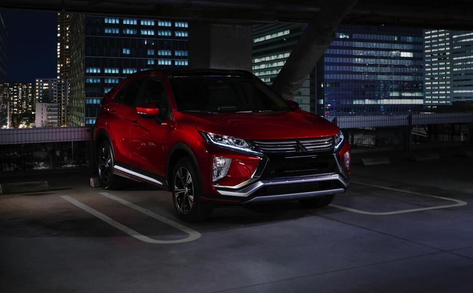 SLÅENDE FRONT: Den nye SUV-en fra Mitsubishi får mer markant design enn storebror Outlander. Derimot nevnes det ikke noe om noen ladbar versjon i denne omgang. Foto: Mitsubishi