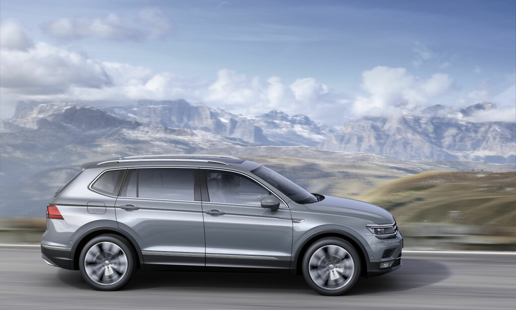 VOKSEN TIGUAN: Med sine 470 centimeter i lengden er den nye SUV-en størst i folkesuv-klassen. Foto: Volkswagen