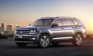 AMERIKANSK FETTER: Volkswagen Atlas ble avduket i Detroit i januar. Foto: Volkswagen