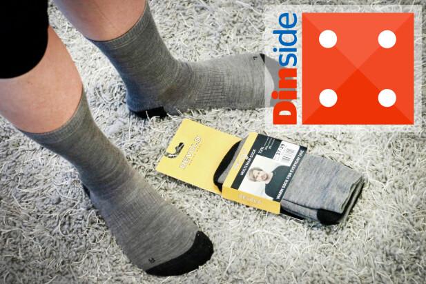 DEVOLD: Når ikke helt opp på passform og komfort - og har mer tegn på slitasje enn for eksempel Ulvang-sokkene. Foto: Ole Petter Baugerød Stokke