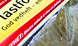 GODE TAGGER: Disse taggene sørger for en problemfri avrivning av folien. Foto: Hanna Sikkeland.