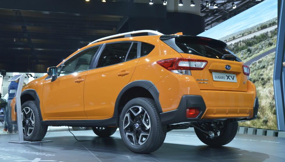 <strong>HEIST OPP:</strong> Med utgangspunkt i nye Impreza, er annen generasjon XV blitt den rene SUV-en, med bakkeklaring på 22 centimeter - én mer enn Volvo V90 Cross Country. Foto: Jamieson Pothecary