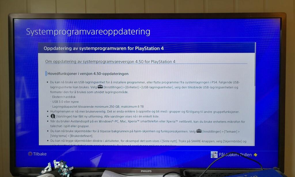 KOM I DAG: Vi har nettopp fått oppdateringen til versjon 4.50 – det har sikkert du også. Foto: Pål Joakim Pollen