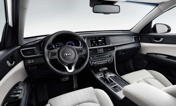 HAR DET MESTE: Kia selger Optima stasjonsvogn Plug-in Hybrid med et høyt utstyrsnivå i utgangspunktet. Foto: Kia