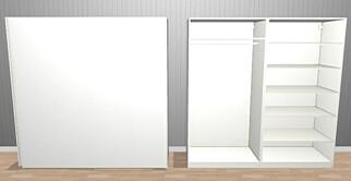 IKEA: Dette er billigste løsning fra Ikea: Pax Hasvik. Pris: 2.860 kroner. Skisse: Ikea